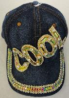 Denim Hat with Bling [COOL] Gold